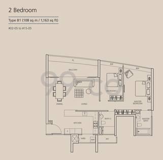 Martin Place Residences - Configuration B1