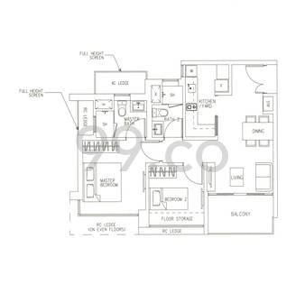 H2O Residences - Configuration B1