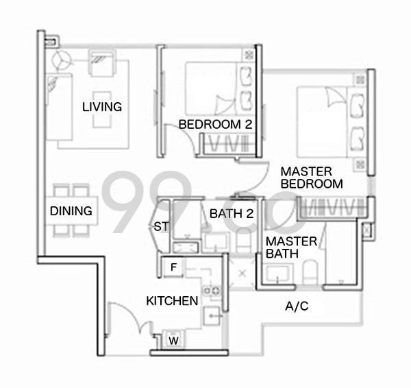 Blossom Residences - Configuration A1