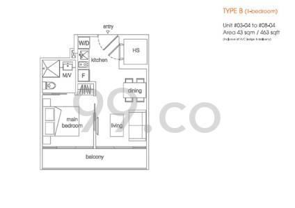 Centra Suites - Configuration B
