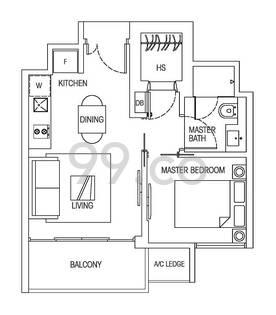 Hedges Park Condominium - Configuration 1a