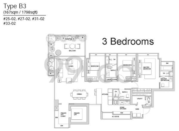 Centennia Suites - Configuration B3