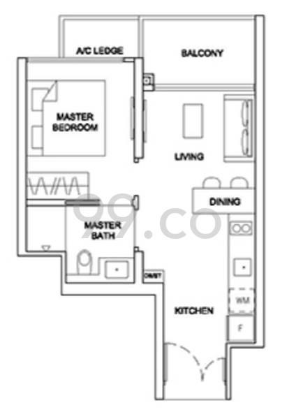 Stirling Residences - Configuration 1BR