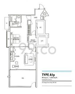 Orange Grove Residences - Configuration A1p