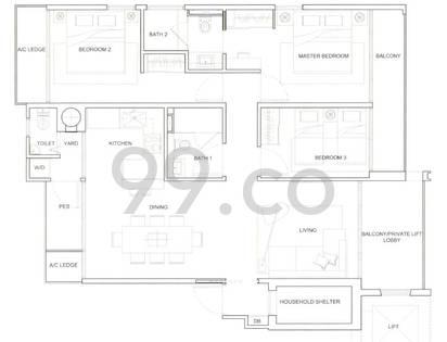 Mayfair Residences - Configuration 1