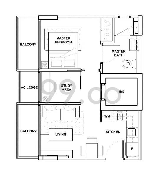Garden Park Residences - Configuration A1