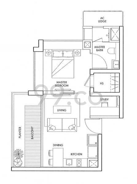 Spottiswoode Residences - Configuration A3