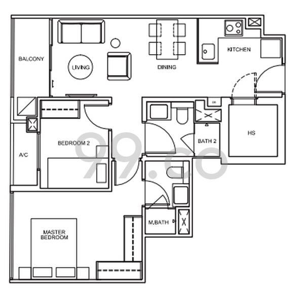 33 Residences - Configuration A