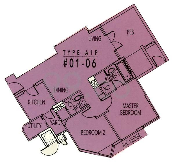 Rafflesia Condominium - Configuration A1P
