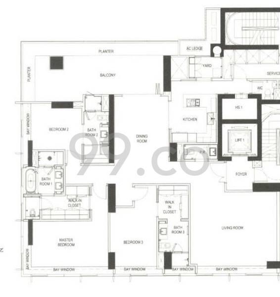 The Ritz-Carlton Residences - Configuration 3A