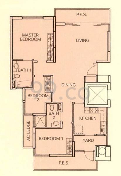 Sims Residences - Configuration A1Pa