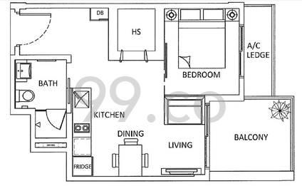 The Urbanite - Configuration 1BRA2