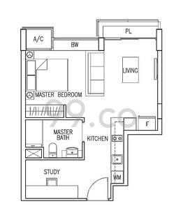 Residences Botanique - Configuration A1