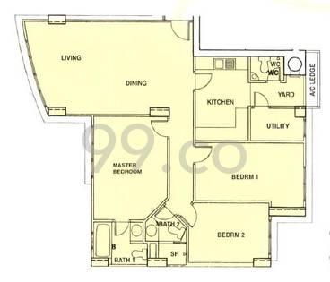Sam Kiang Mansions - Configuration A1