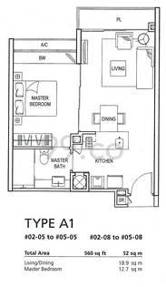 Clementiwoods Condominium - Configuration A1