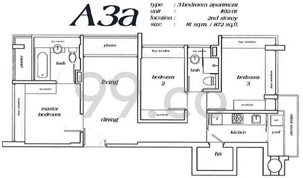 Haig Residences - Configuration A3a