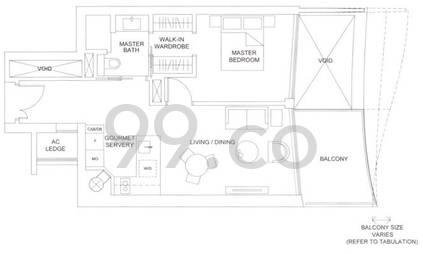Marina One Residences - Configuration 1C