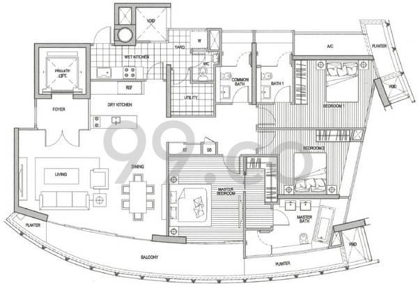 St Thomas Suites - Configuration A