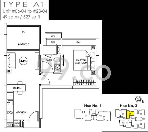Lincoln Suites - Configuration A1