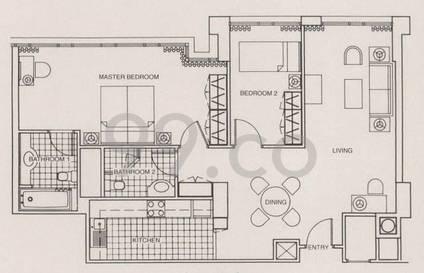 Park Avenue Clemenceau Suites - Configuration SD2