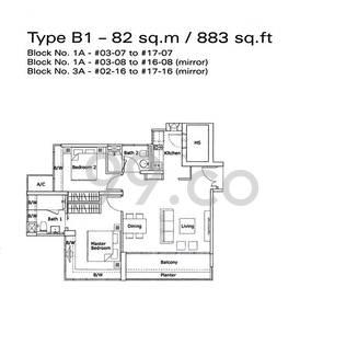 Kovan Residences - Configuration B1
