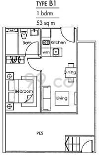 Loft @ Stevens - Configuration B1