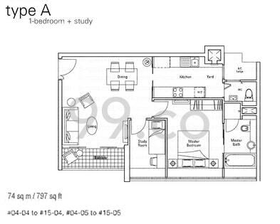 Novena Suites - Configuration A