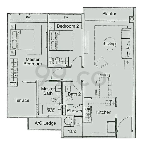 Ferraria Park Condominium - Configuration 2ct