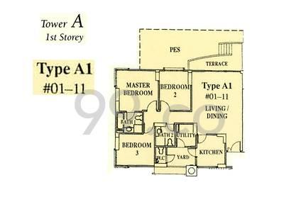 Dover Parkview - Configuration A1
