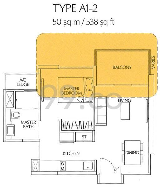 Terrasse - Configuration A12