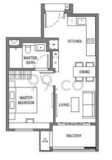 Parksuites - Configuration A1a