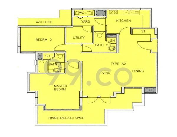Hilltop Grove - Configuration A2