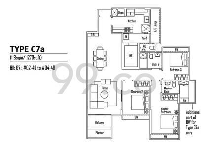 Rosewood Suites - Configuration C7a