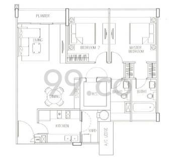 The Sixth Avenue Residences - Configuration B1