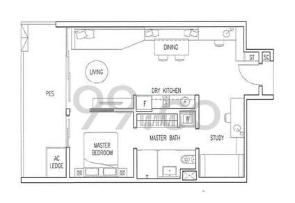 Boathouse Residences - Configuration A1P