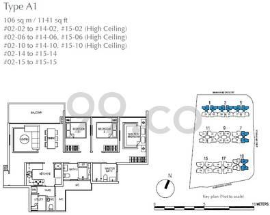 SkyPark Residences - Configuration A1
