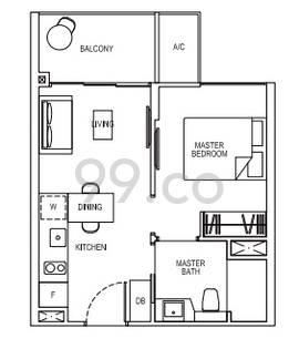 Grandeur Park Residences - Configuration 1B1