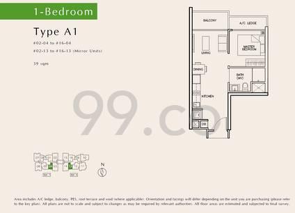 Tre Residences - Configuration A1