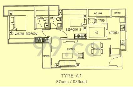 Parc Mondrian - Configuration A1