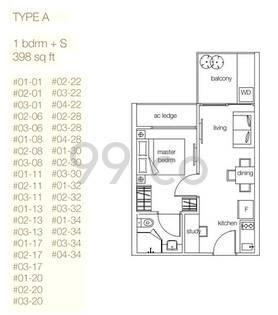 Nottinghill Suites - Configuration A