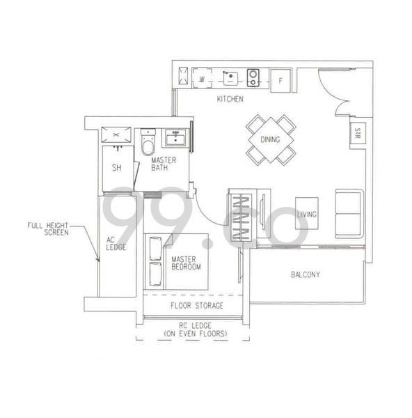 H2O Residences - Configuration A1