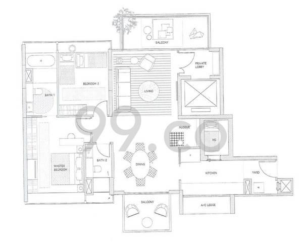 Helios Residences - Configuration B1