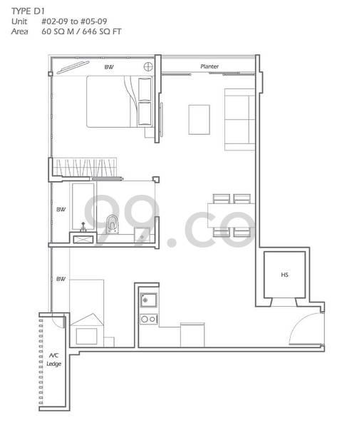 Mount Sophia Suites - Configuration D1
