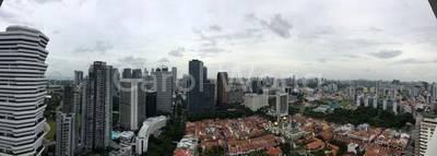 Panoramic breathtaking view of city skyline