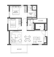2 Bedrooms Type B3b