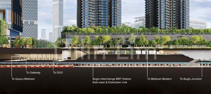 Location of Bugis MRT : Level B2