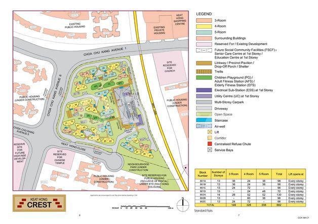 Keat Hong Crest Site Map