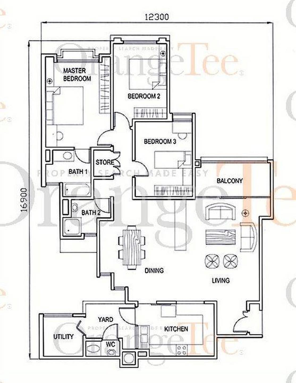 Pinewood Gardens 3 Bedroom Condo For Sale 1 625 Sqft Built Up