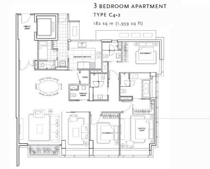 St. Regis Residences #0x-10, 3Brms+ Study/1959sqft