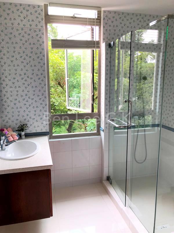 bright modern common bathroom